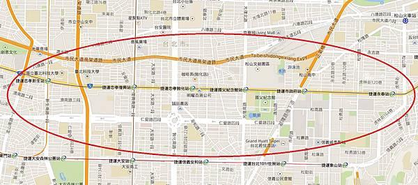 東區鬆餅(捷運圖)