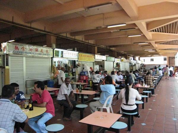 竹腳商場的美食街