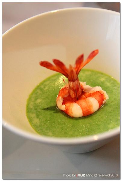 鮮蝦蕈菇濃湯