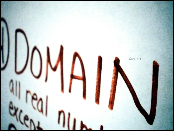 Domain: Any Real
