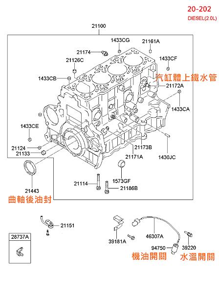 (20-202) 汽缸體