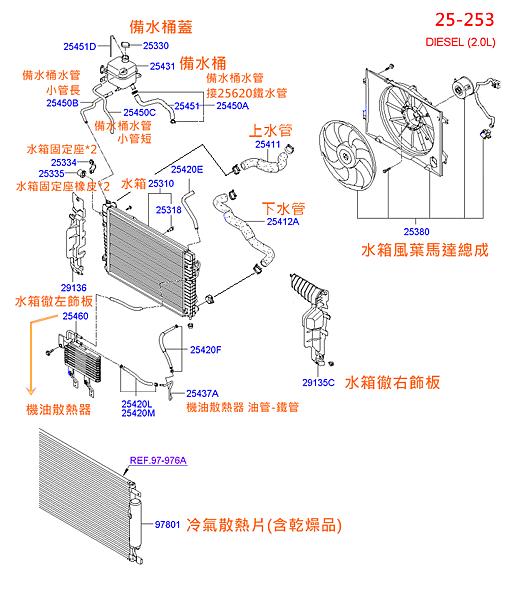TUCSON 柴油 (25-253)水箱水管