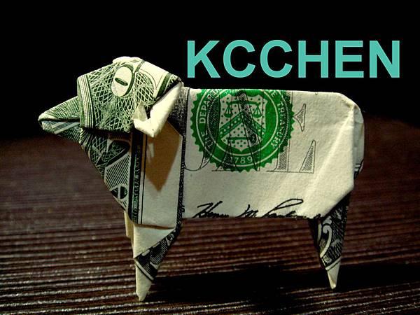 美金摺紙羊(鈔票摺紙)dollar bill origami