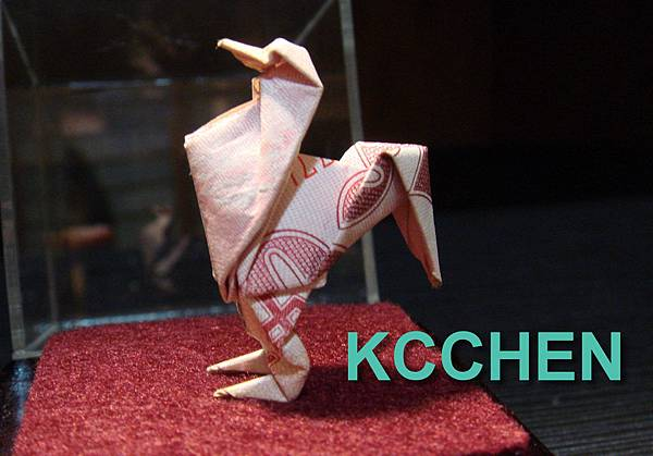 台幣摺紙公雞