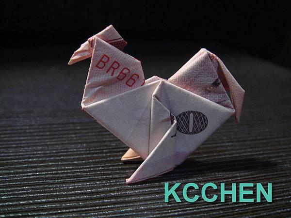 台幣摺紙母雞