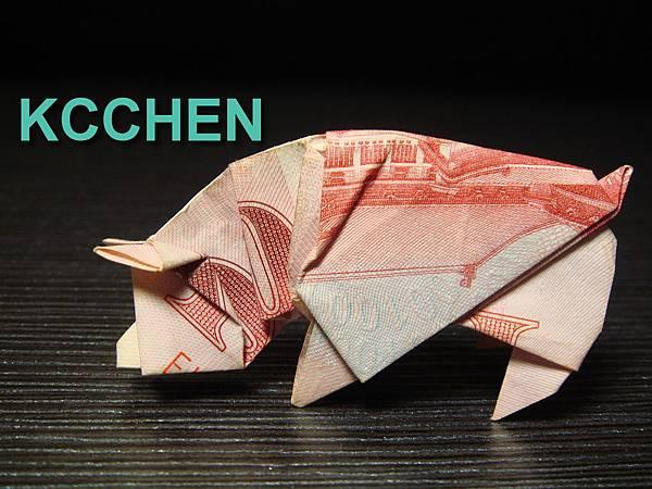 台幣摺紙低頭豬