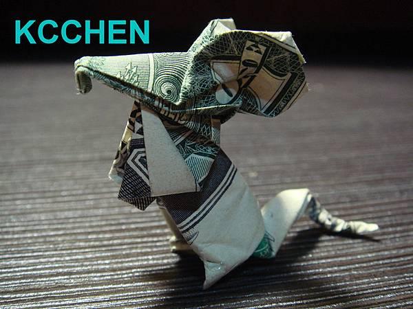 美金台幣鈔票摺紙老鼠 money origami (4)