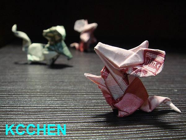 美金台幣鈔票摺紙老鼠 money origami (29)