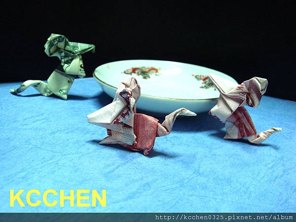 美金台幣鈔票摺紙老鼠 money origami (25)