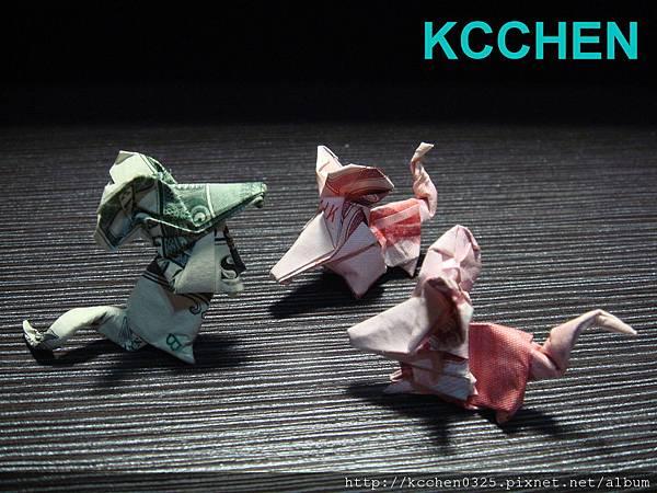 美金台幣鈔票摺紙老鼠 money origami -1 (1)