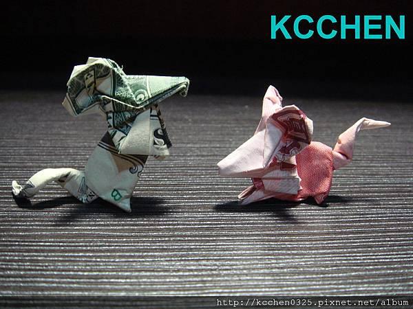 美金台幣鈔票摺紙老鼠 money origami -1 (2)