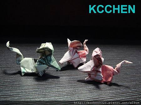 美金台幣鈔票摺紙老鼠 money origami -1 (8)
