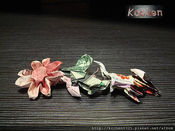 鈔票摺紙 美金台幣老鼠 錢花 dollar bill origami (56)