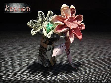 鈔票摺紙 美金台幣老鼠 錢花 dollar bill origami (12)