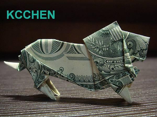 鈔票摺紙 美金摺紙 獅子 dollar bill origami folding (12)