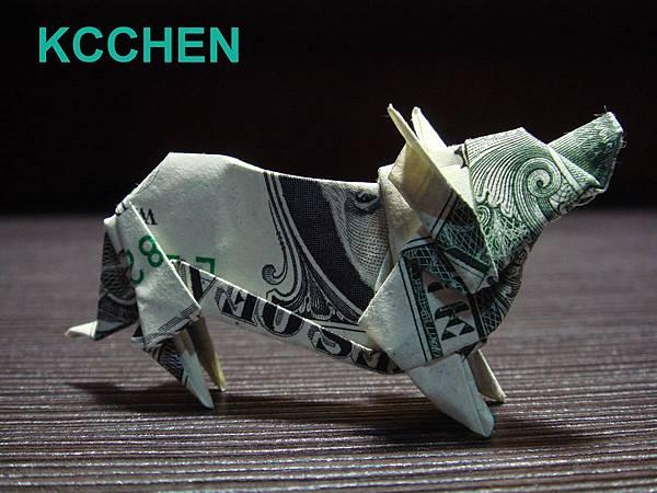 鈔票摺紙美元摺紙 狗 dollar bill origami folding