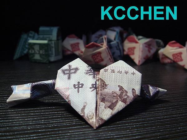 鈔票摺紙 心戒指 dollar bill origami2