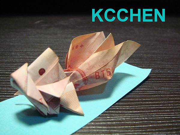 鈔票摺紙 金魚 dollar bill origami3