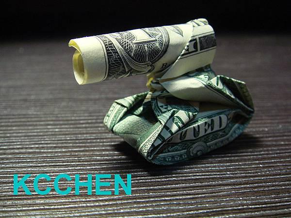 鈔票摺紙 相機 dollar bill origami4