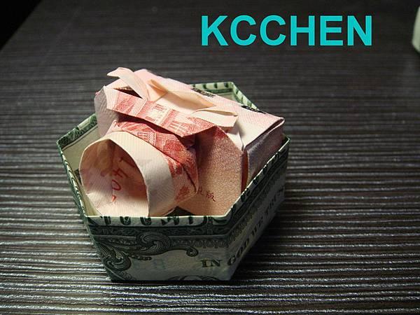 鈔票摺紙 相機 dollar bill origami11