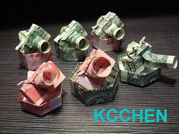 鈔票摺紙 相機 dollar bill origami16