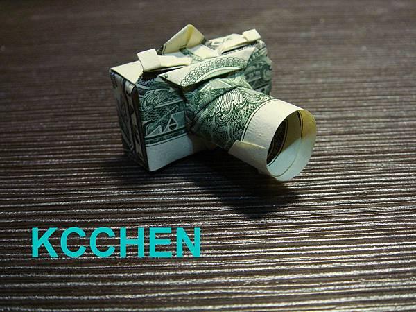 鈔票摺紙 相機 dollar bill origami17