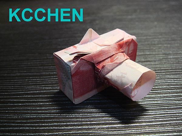 鈔票摺紙 相機 dollar bill origami18