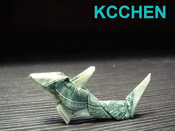鈔票摺紙 貓咪 dollar bill origami2