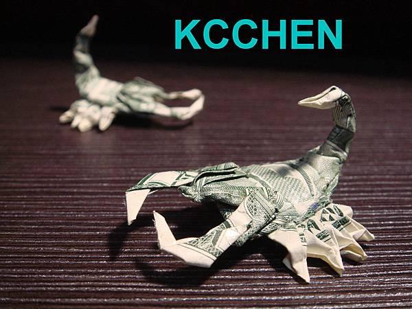 鈔票摺紙 蠍子 dollar bill origami11