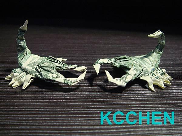 鈔票摺紙 蠍子 dollar bill origami12
