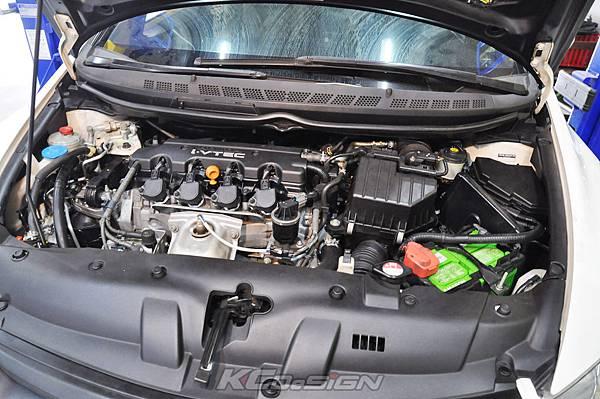 Honda Civic 8 1.8  安裝 KC.TBS x2 & R18矽膠進氣管_11.jpg