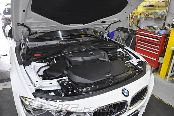 BMW F31 320 Lci  安裝 KCDesign B48 引擎室拉桿_008.jpg