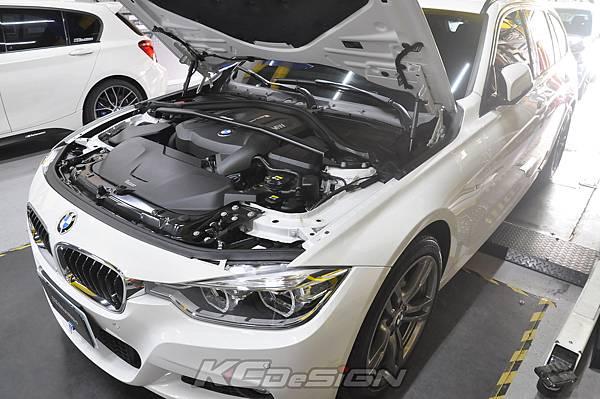 BMW F31 320 Lci  安裝 KCDesign B48 引擎室拉桿_006.jpg