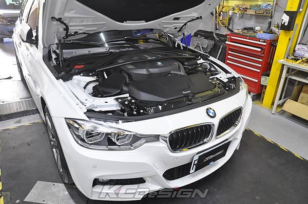 BMW F31 320 Lci  安裝 KCDesign B48 引擎室拉桿_007.jpg
