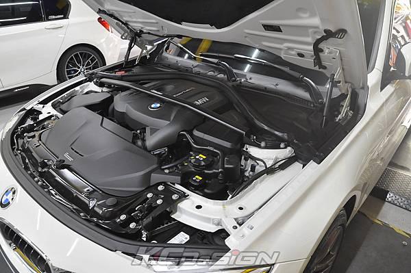BMW F31 320 Lci  安裝 KCDesign B48 引擎室拉桿_005.jpg