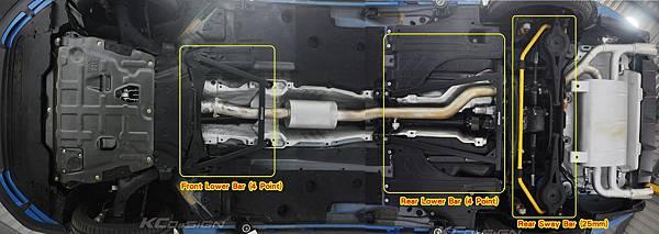Volvo V60 Polestar 18年式 安裝 KCDesign 前後4點式結構桿、後防傾桿、T6 鋁合金渦輪管_096.jpg