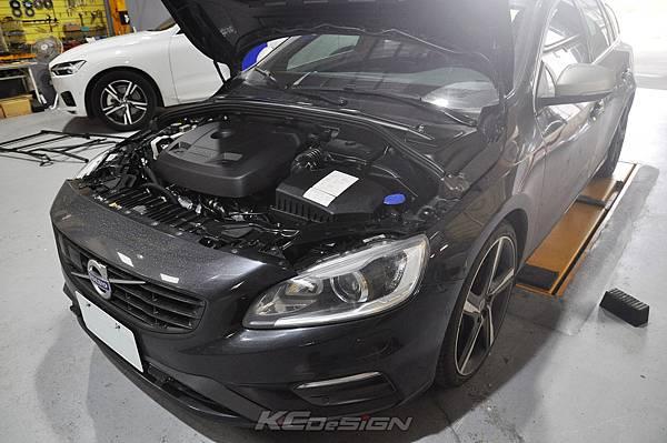 Volvo V60 T6 安裝 KCDesign 前後4點式結構桿、碳纖維引擎室拉桿_015.jpg