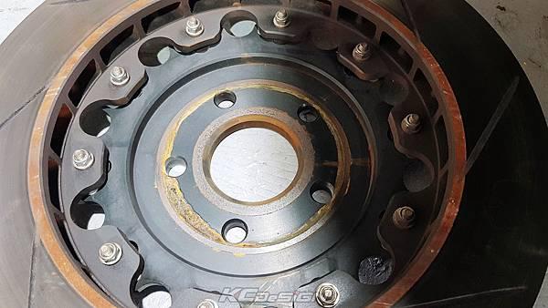 Volvo S60 T4 升級 KCDesign 超中六+350mm 後350mm 假浮動加大碟含金屬油管_013.jpg