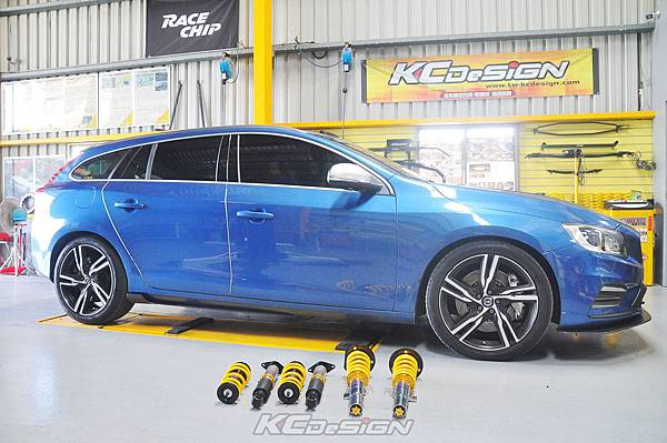 Volvo V60 T5R 安裝 KCDesign V1倒插式避震器、AP 8520 黃皮、356mm外盤_022.jpg