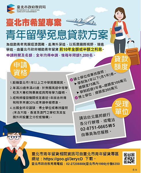 【留學】台北市青年留學免息貸款申請經驗分享