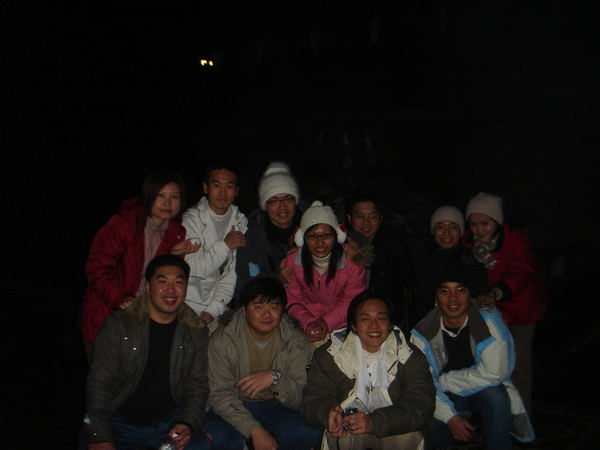 鳩之澤溫泉煮蛋(左邊後排第一位是千容姐)