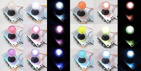 透明水晶氣泡搖桿球發光效果s