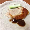 烤鴨與甜麵醬和蔥