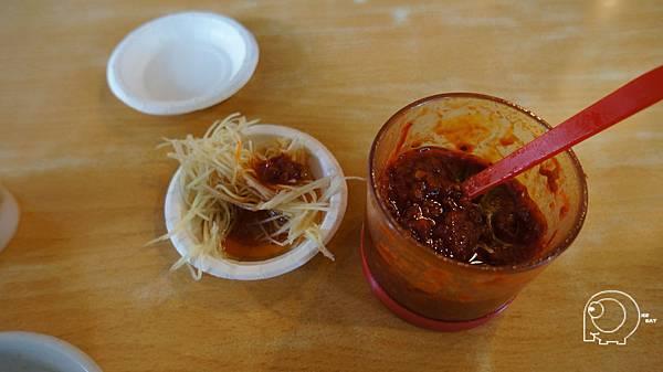 辣豆瓣醬跟薑絲