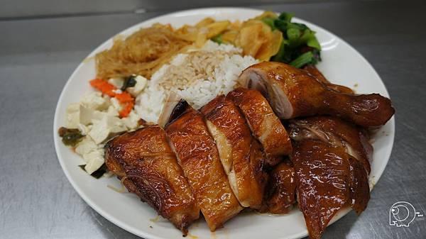 脆皮鴨腿飯+蜜汁烤雞腿