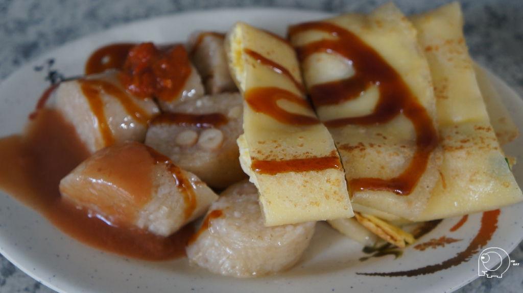蛋餅加米腸