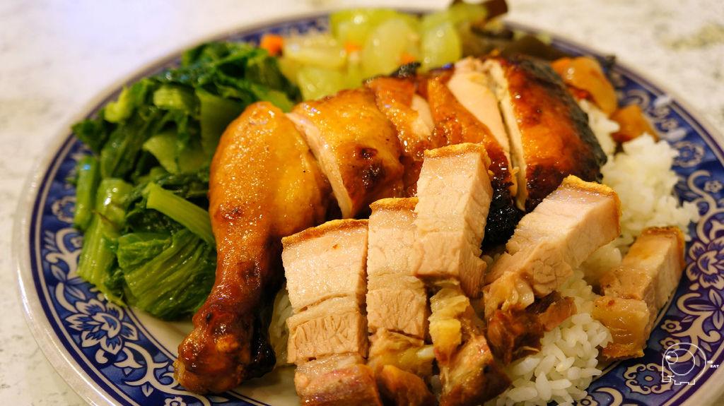 蜜汁雞腿拼燒肉飯