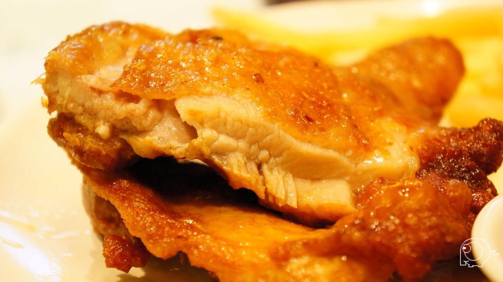 生炸大雞腿配薯條