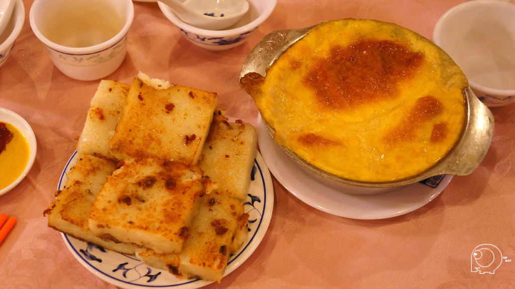 蘿蔔糕&焗白菜