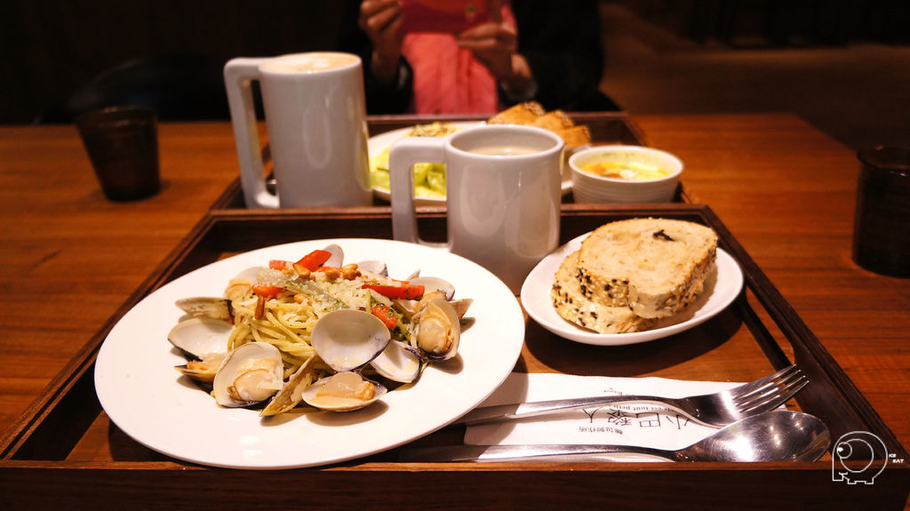 青醬蛤蜊義大利麵套餐